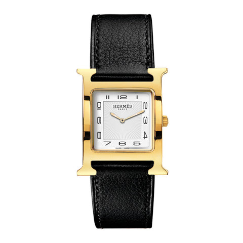 Hermes Heure H MM Gold-Plated Steel Watch
