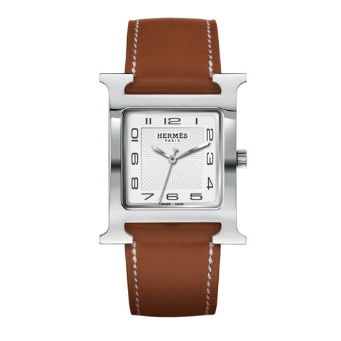 Hermes Heure H TGM Stainless Steel Watch with Interchangeable Strap