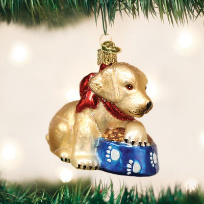 Old World Christmas Labrador Pup Ornament