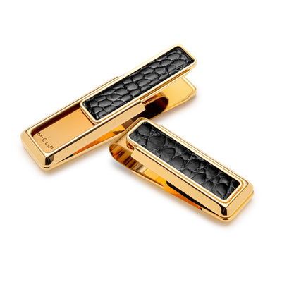 M-Clip New Yorker Alligator Inlay Money Clip in Gold