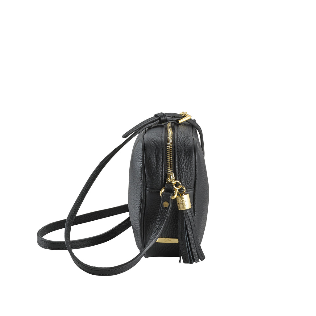 Gigi NY Pebble Leather Madison Crossbody