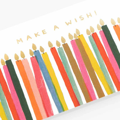 Make a Wish Candles Birthday Card
