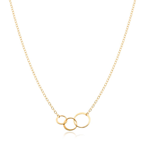 MJM Small Triple Circle Gold Necklace