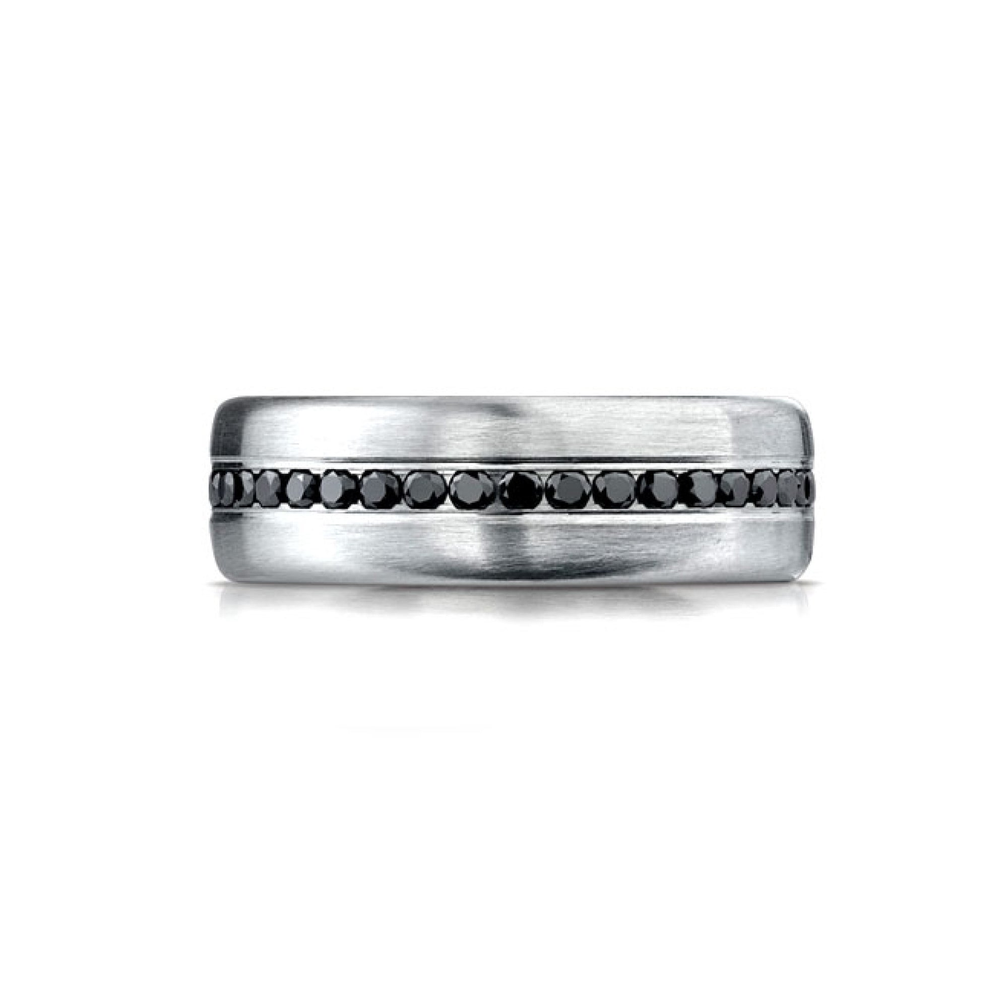 Black Diamond Mens Wedding Band Desires by Mikolay