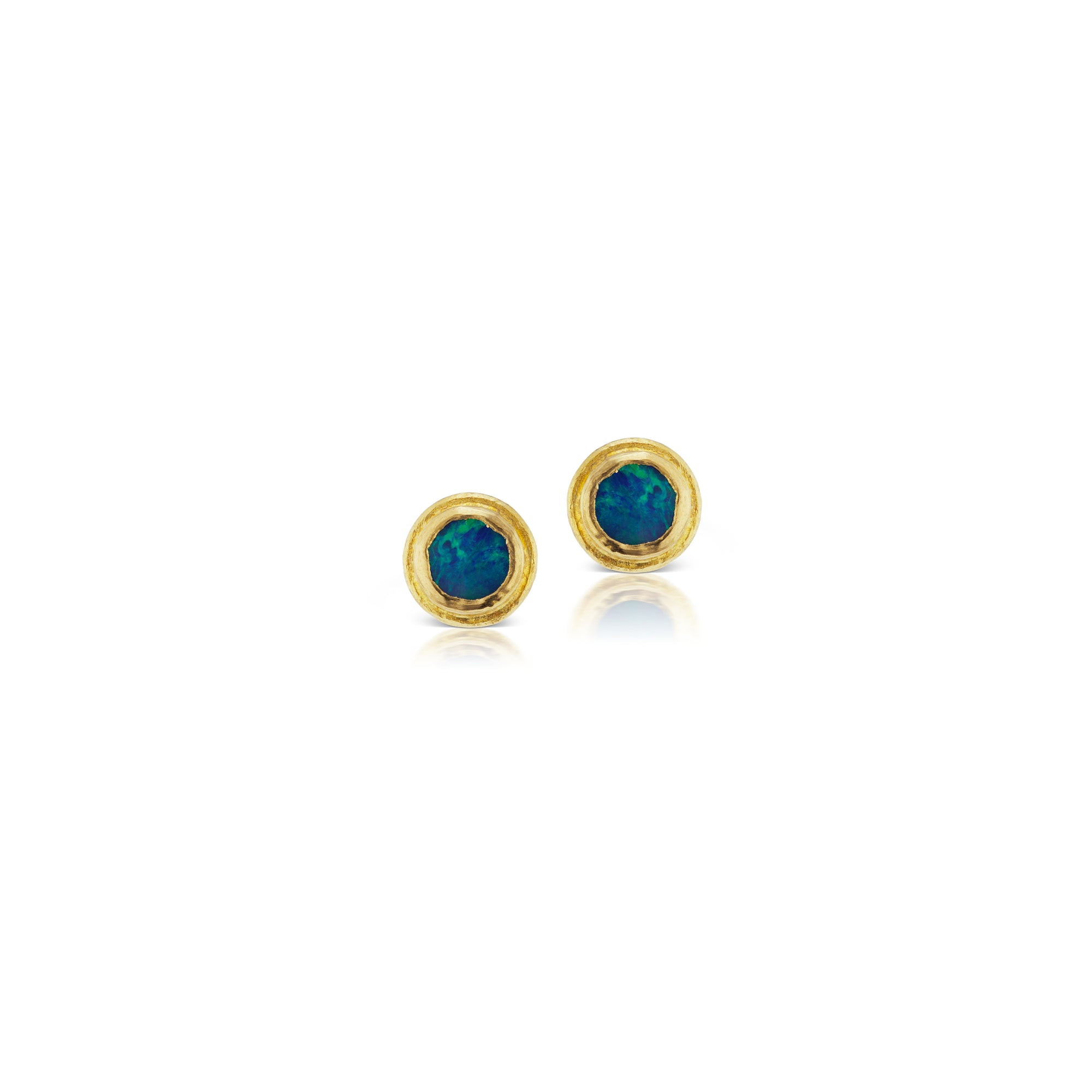 stud store earrings gold raw pure