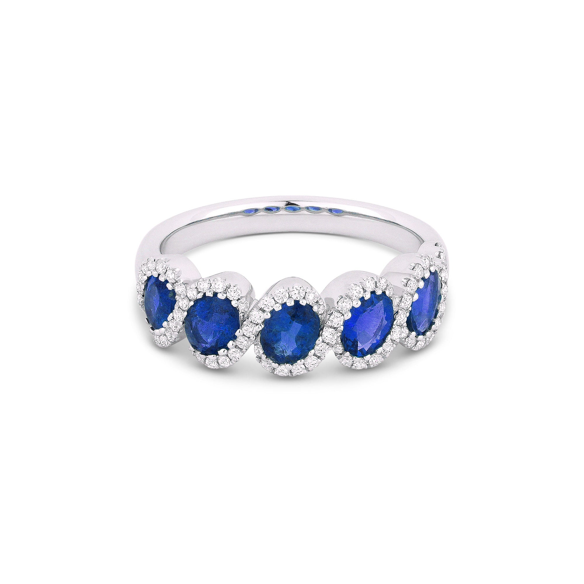 blue and cut centres charm product bands sapphire cushion diamond ring created