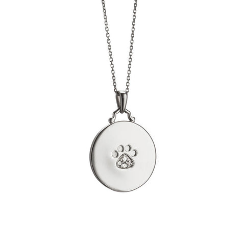 Faithful Paw Print Charm Pendant