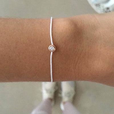 Pop Diamond Bracelet with White Cord