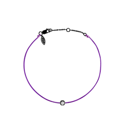 Pop Diamond Bracelet with Purple Cord