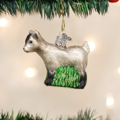 Old World Christmas Pygmy Goat Ornament