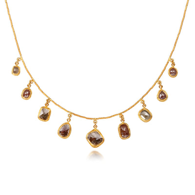 Raw Diamond Slice Drop Necklace by ARA Collection