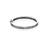 Rene Escobar Diamond Sparkle Oxidized Cuff Bracelet