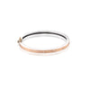 Rene Escobar Orly Diamond Rose Gold Bangle Bracelet