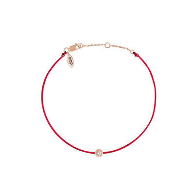 Pop Diamond Bracelet with Red Cord