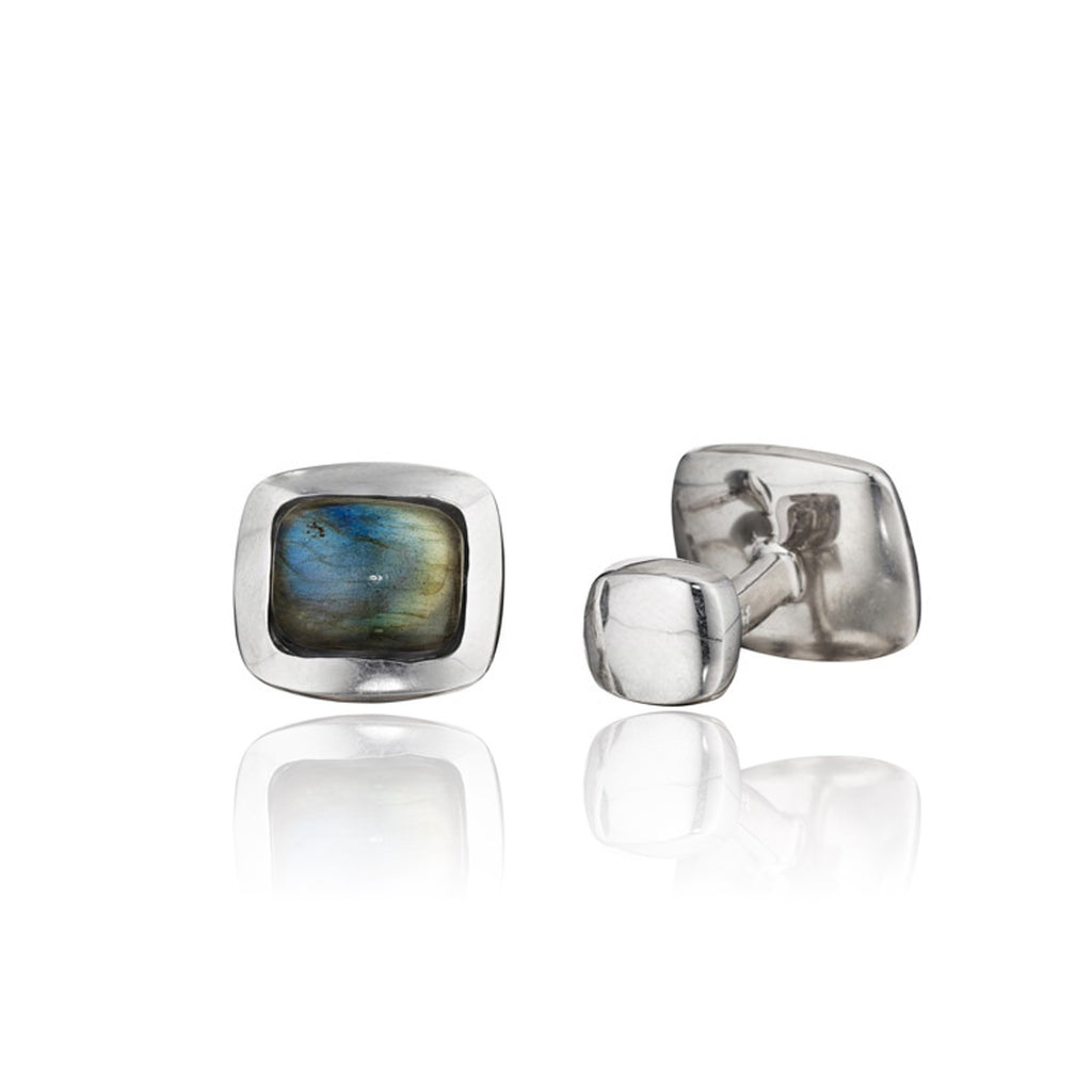 Rotenier Limited Edition Labradorite Cushion Cufflink