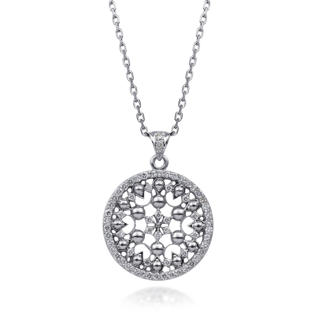 Diamond Filigree Pendant by Scott Mikolay in the Celebration Collection
