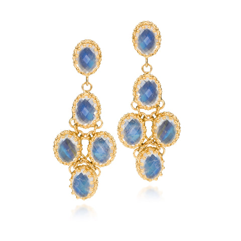 Scott Mikolay Crown Collection Chandelier Earring Limited Edition Moonstone