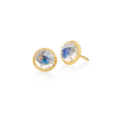 Scott Mikolay Crown Collection Stud Earring Limited Edition Moonstone