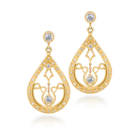 Diamond Dangle Earrings by Scott Mikolay from the Aragon Collection