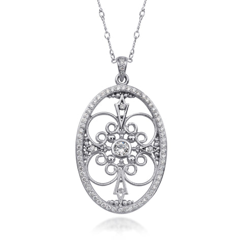 Diamond Necklace by Scott Mikolay in the Aragon Collection (Large)