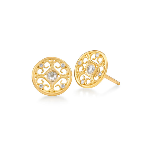 Diamond Rose Cut Stud Earring by Scott Mikolay from the Aragon Collection