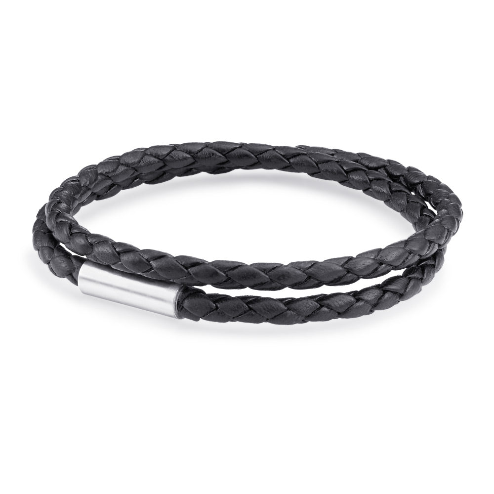 Scott Mikolay Magnetic Leather Bracelet - Double Wrap