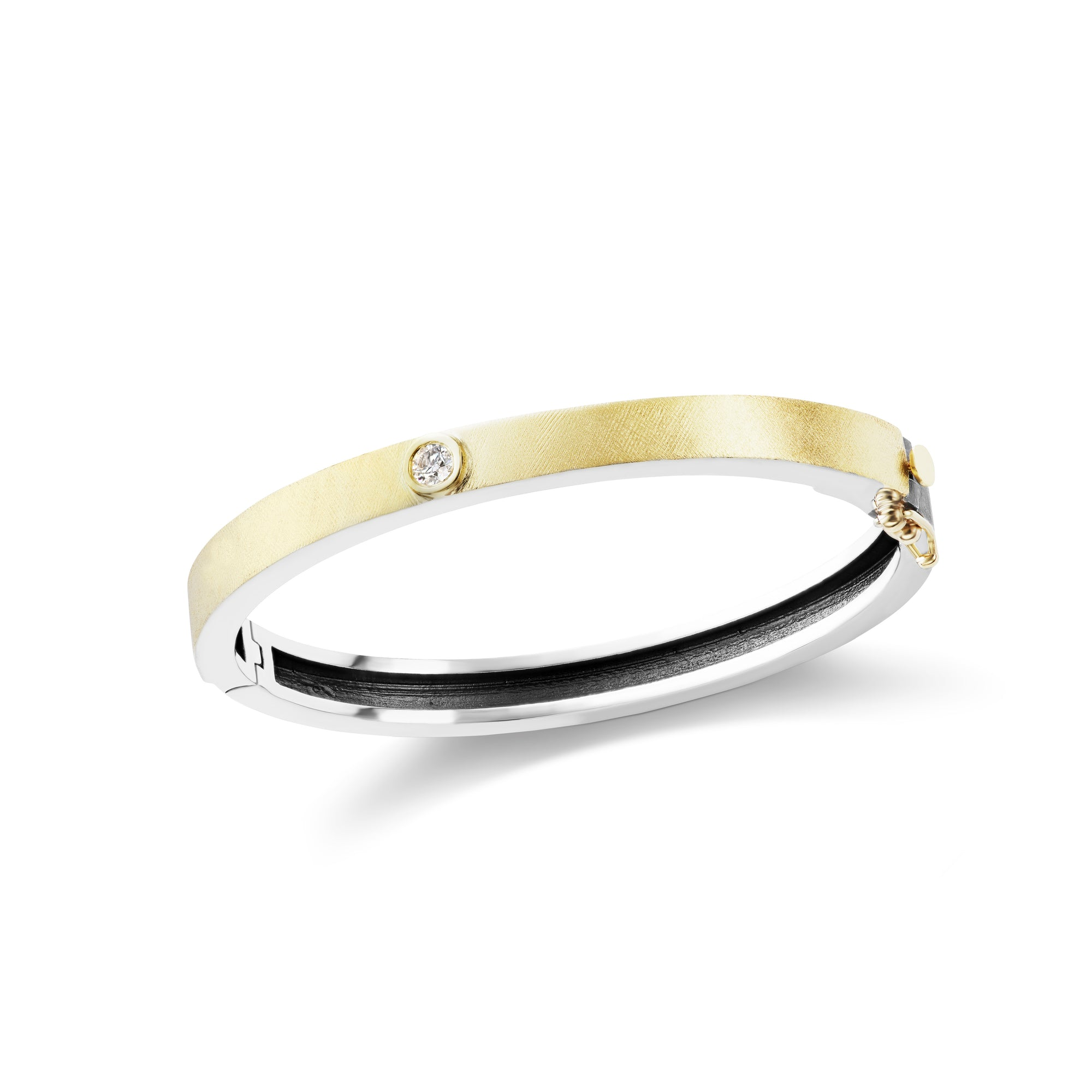 gold ct bangles diamond p solid line bracelet w single party