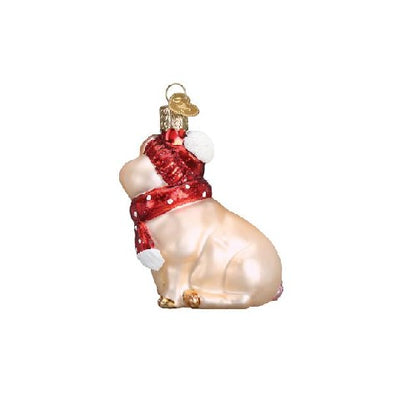 Old World Christmas Snowy Pig Ornament
