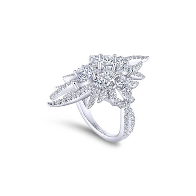 Diamond Waterfall Cocktail Ring
