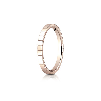 Square Facet Plain Gold 2mm Band