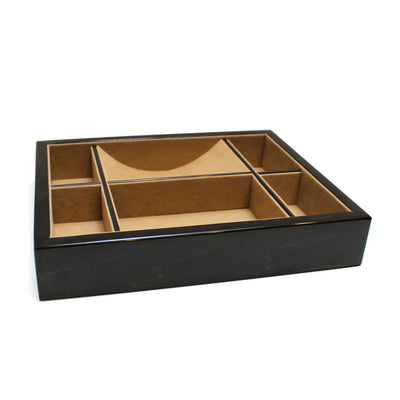 Black Wood Valet Tray