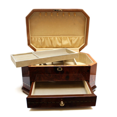 Burlwood Fine Quality Jewelry Box