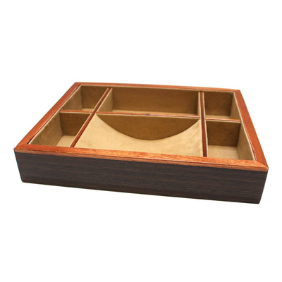 Natural Brown Wood Valet Tray