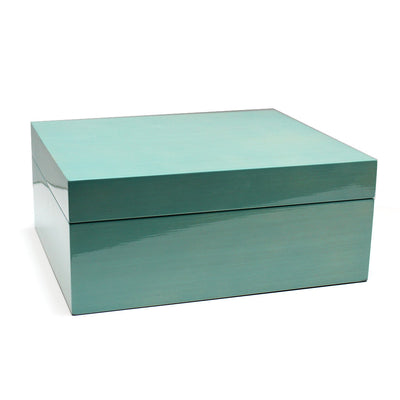 Luxurious Turquoise Wood Jewelry Box