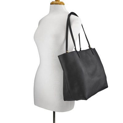 Gigi NY Pebble Leather Tori Unlined Tote Bag