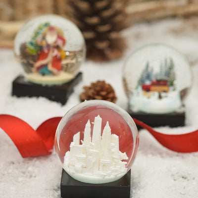 White NYC Snow Globe Holiday Gift