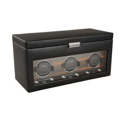 Roadster Triple Watch Winder with Storage