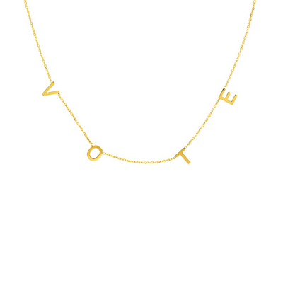 VOTE necklace in solid gold