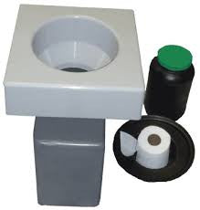 Eco-Safe Toilet System w/Square Seat