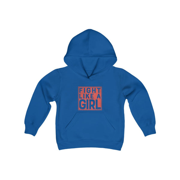 Fight Like A Girl- by LCKY JACK (for Trixie & Milo) - Youth Heavy Hoodie, Boxing Girl, work out hoodie, inspirational hoodie
