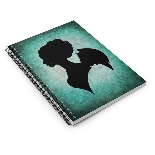 Vampire Women by LCKY JACK. Spiral Notebook - Ruled Line, vintage, retro, silhouette, beautiful, Victorian