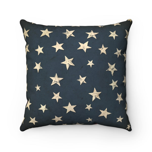 "Stars & Stripes - Throw Pillow 14""x14 or 20""x20"", by LCKY JACK, Patriotic pillow, flag pillow, USA pillow, vintage flag"