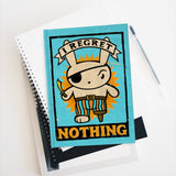 I Regret Nothing  - Blank pages journal / sketchbook, cute pirate bunny sketchbook, sarcastic journal, back to school