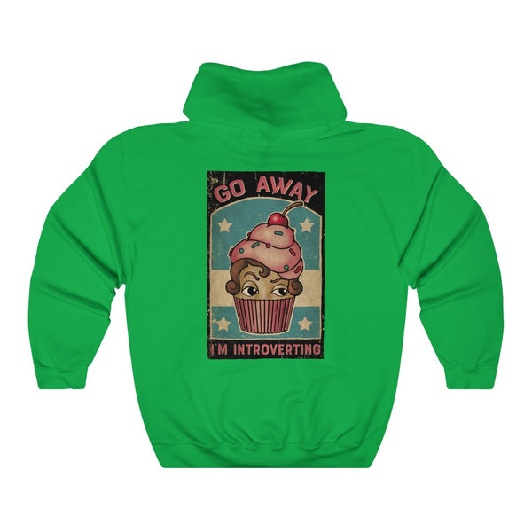 Go Away (I'm Introverting) - by LCKY JACK (for Trixie & Milo) - Hoodie, classic cupcake design, girls gift, funny cupcake, vintage graphic