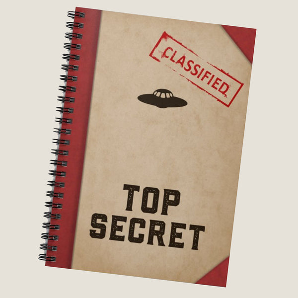 Top Secret notebook by LCKY JACK. Spiral Notebook - back to school, journal, diary, classified notebook, funny notebook, sarcasm