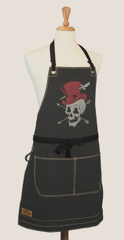 "Canvas Apron - ""Skull Hat"""