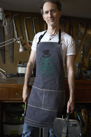 "Canvas Apron - ""Octopus"""