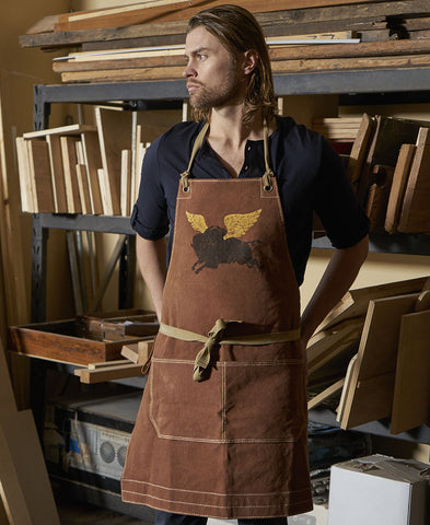 "Canvas Apron - ""Flying Buffalo"""