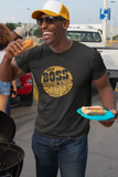 Boss With the Sauce - by LCKY JACK Unisex Heavy Cotton Tee, Funny tee shirt, retro distressed chef shirt