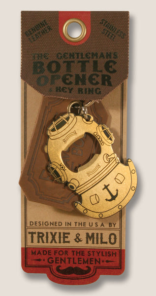 Diving Helmet - The Gentleman's Bottle Opener & Key Ring